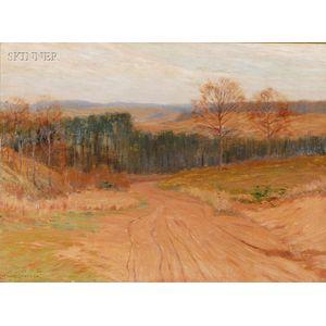 Leonard Ochtman (American, 1854-1934)      On the Country Road