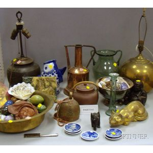 Large Lot of Miscellaneous Glass, Silver, Wood, and Ceramic Material