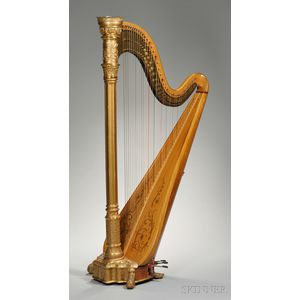 American Concert Harp, Lyon & Healy, Chicago, c. 1905, Style 22 Gold