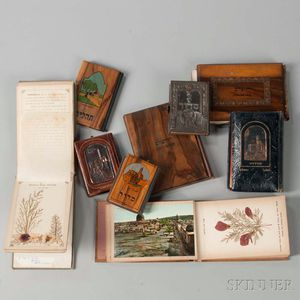 Group of Decoratively Bound Small Books and Albums