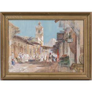 Walter Francis Brown (American/Italian, 1853-1929)      Middle Eastern Market Scene