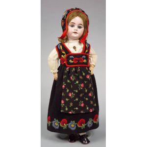AM 1894 Bisque Head Girl in Norwegian Costume