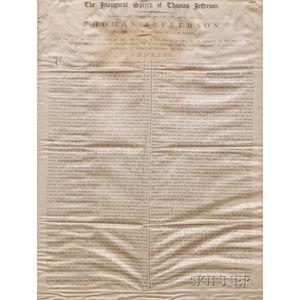 (Jefferson, Thomas), Political Silk Banner
