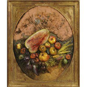Framed Fruit Relief Still Life