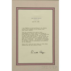 Little Jimmy Dickens     Presidential Letters of Appreciation