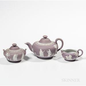Three-piece Lilac Jasper Dip Tea Set