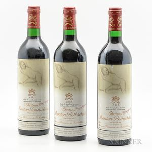 Chateau Mouton Rothschild 1993, 3 bottles