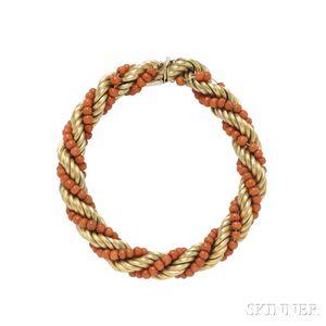 18kt Gold and Coral Bracelet