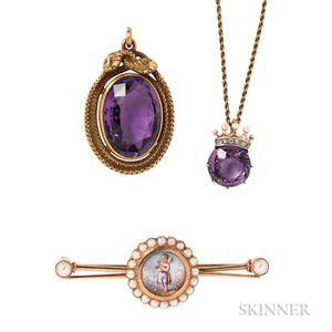 Three Pieces of Antique Jewelry