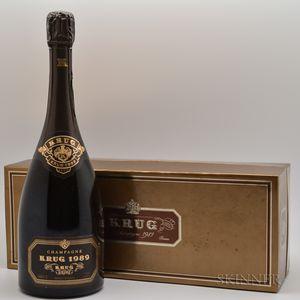 Krug Vintage Champagne 1989, 1 bottle (ogb)
