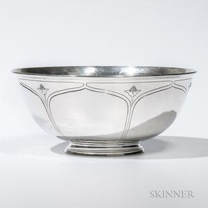 Arthur Stone Sterling Silver Bowl