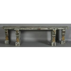 Impressive Louis XV-style Antico Verde and Bronze-mounted Console Table