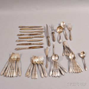 """Towle """"Old Mirror"""" Sterling Silver Partial Flatware Service for Eight"""