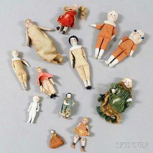 Group of Miniature Porcelain Dolls