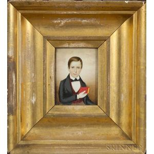 Attributed to Mrs. Moses B. Russell (Clarissa Peters), (Massachusetts, 1809-1854) Portrait Miniature of Wi...
