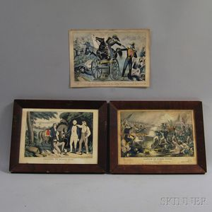 Three Hand-colored Engravings
