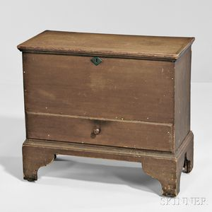Shaker Brown-painted Pine One-drawer Chest
