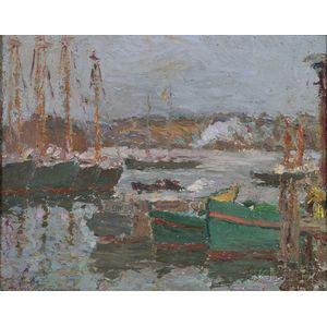 Morris Hall Pancoast (American, 1877-1963)      Gloucester Harbor