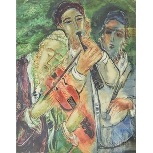 Reuven Rubin (Israeli, 1893-1974)      Klezmer Musicians
