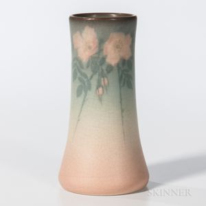 Edward T. Hurley for Rookwood Pottery Vellum Floral Vase