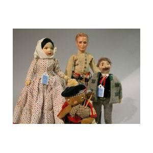 Lot of Four Character Dolls