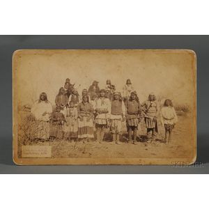 C.S. Fly (American, 1849-1901)       Imperial Cabinet Card Photograph of Members of Geronimo