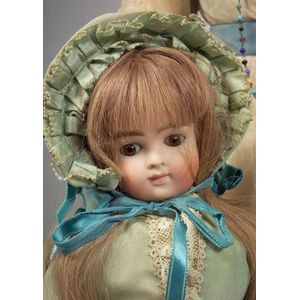 Closed Mouth Kestner Swivel Neck Bisque Doll