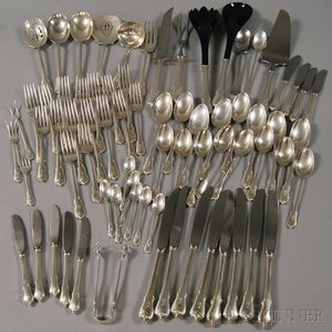 "Wallace ""Grand Colonial"" Sterling Silver Flatware Service for Eight"