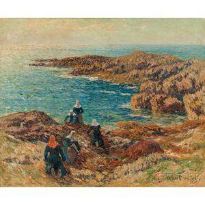Henry Moret (French, 1856-1913)      La Côte de Trégune  /Harvesting Kelp