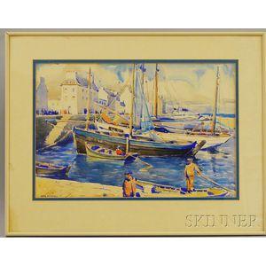 Henry Bill Selden (American, 1886-1934)      Harbor Scene