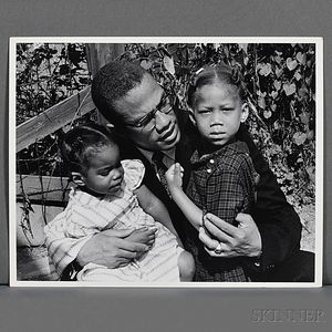 Malcolm X (1925-1965) Six Family Photographs Taken by Robert Haggins (1922-2006)