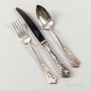 Thirty-six Pieces of Austro-Hungarian .800 Silver Flatware