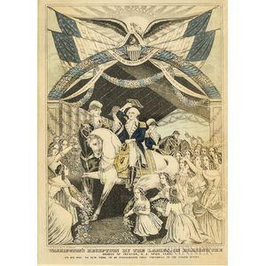 Framed Nathaniel Currier Engraving Washington
