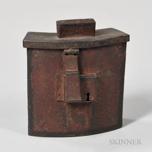 Continental Painted Tin Alms Box