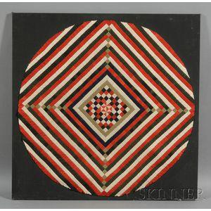 Geometric Wool Felt Table Cover