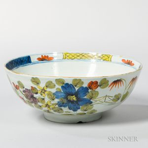 Fazakerly-pattern Tin-glazed Punchbowl