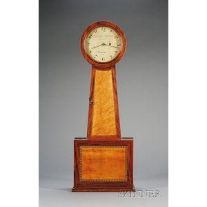 "Mahogany Shelf Patent Timepiece or ""Banjo"" Clock by Charles Babbitt"
