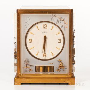 "LeCoultre & Cie. Lucite Atmos ""Marina"" Clock"