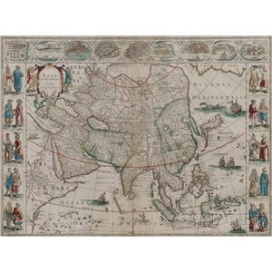 Asia.   Willem Blaeu (1571-1638) Asia Noviter Delineata