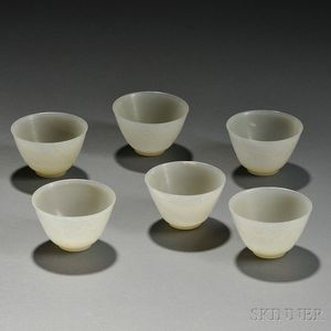 Six Hardstone Wine Cups