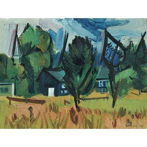 Ben Benn (American, 1884-1983)      Landscape with Houses