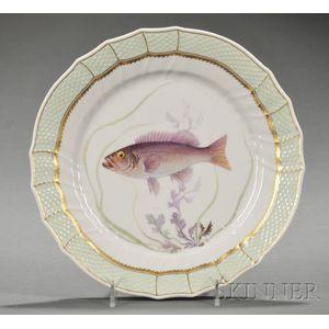 Twelve Royal Copenhagen Fish Plates