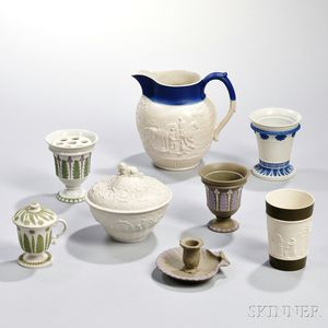 Eight Wedgwood Dry Body Wares