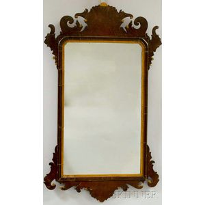 Chippendale Mahogany Scroll-frame Mirror