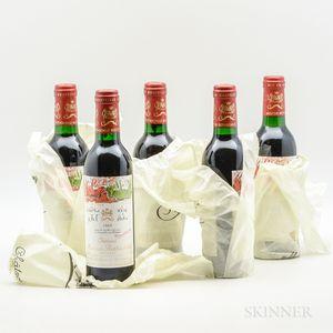 Chateau Mouton Rothschild 1989, 5 demi bottles