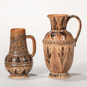 Two Doulton Lambeth Stoneware Jugs