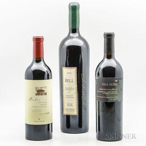 Mixed 2004 Napa Wines, 2 bottles1 magnum