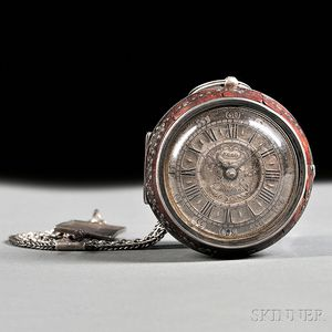 Silver Pair-cased Verge Pocket Watch