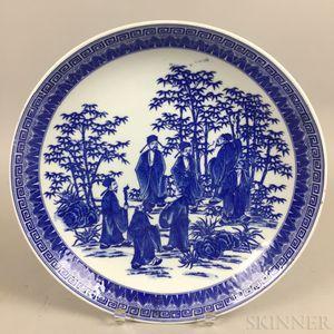 Blue and White Transferware Dish