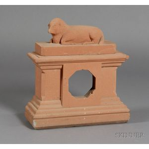 Carved Brownstone Mantle Clock Case